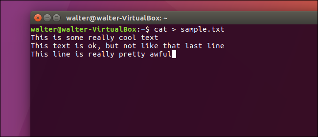 cat commands in linux